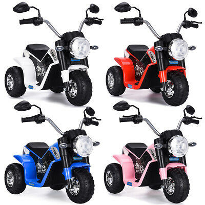 Electric Motorcycle Kids Ride On  6V Battery Powered 3 Wheel Bicycle Toy Gift