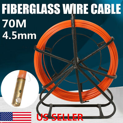 4.5MM Fish Tape Fiberglass Wire Cable Run Rod Duct Rodder Fishtape Puller Orang