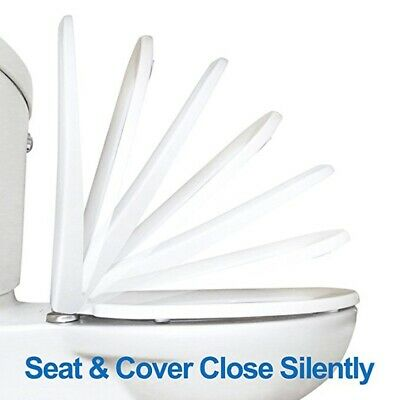 Luxury Easy Clean Toilet Seat Soft Close Square V Shape Top Quick Release Hinge