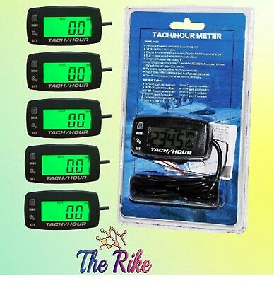 5x Tach Hour Meter Tachometer RPM Display Motorcycle ATV Dirtbike Buggy Outboard