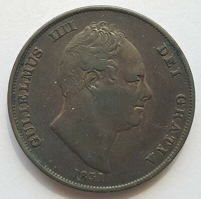 1831 King William Iv Penny - Nice Condition!