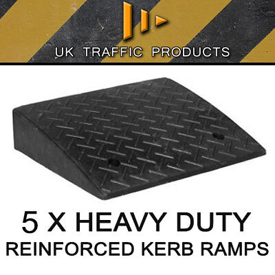 Pack of 5 - HEAVY DUTY Kerb Ramps (Perfect for HGV use)