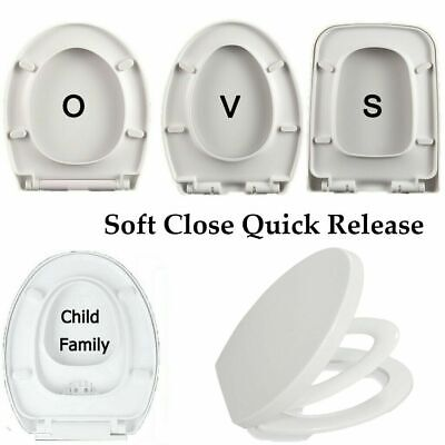 Universal Soft Close Dual Toilet Seat Cover Toddler Adult Family Potty Training