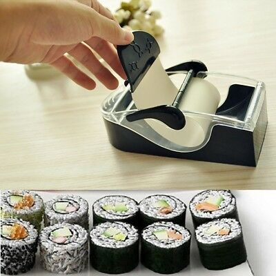 Perfect Magic Rice Roll Easy Sushi Maker Kit Cutter Roller DIY Kitchen Machine