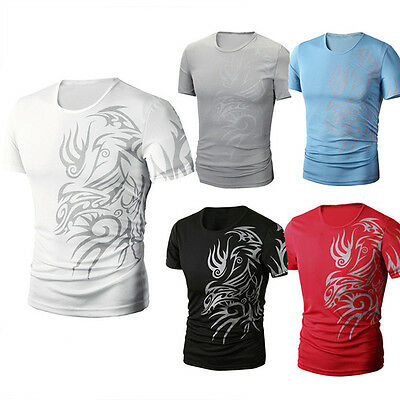 Men Slim Fit Short Sleeve Polo Tee Tops Stylish Summer Casual T-Shirts M-3XL
