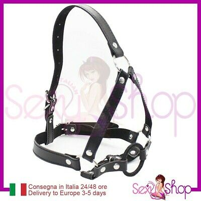 Harness viso O-Ring Mouth gag bocca Bondage Fetish Museruola Morso costrittivo
