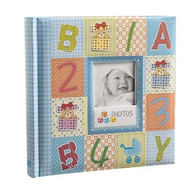 Blue Cute Baby shower Slip In Photo Album With Window, 200 6x4'' Photos CL-CB200