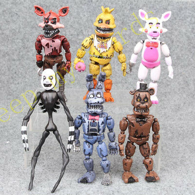 "6 Pz Gioco Fnaf Five Nights At di Freedy Peluche Orso 6 "" Action Figure"