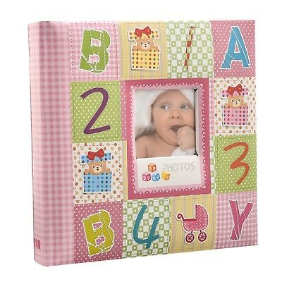 Pink Baby Girl shower Slip In Photo Album With Window,200 6x4'' Photos CL-CC200