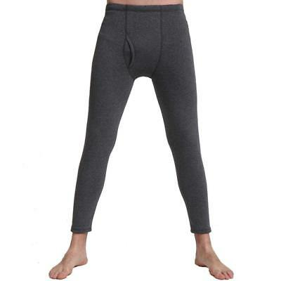 Liang Rou Men's Fleece Lined Thick Thermal Pant Dark Grey US SmallXL