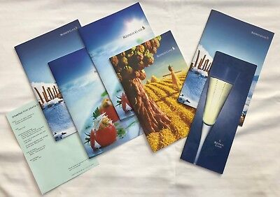 Singapore Airlines - Business Class Menus (Lot of 6) / (late 2000s)