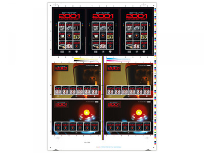 2001: A Space Odyssey Printers Pane and Sheetlet  (WJ45)
