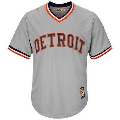 Majestic Detroit Tigers COOPERSTOWN COOL BASE MLB Maglia Grigio