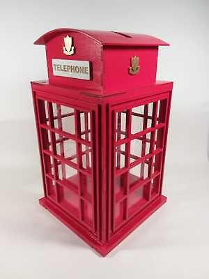 Scatola porta buste money box nozze regalo matrimonio shabby London phone legno