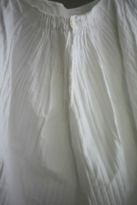 Belle Epoque French PETTICOAT full flounces PINTUCKS COTTON c1880