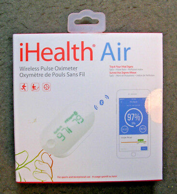 iHealth Air PO3 Wireless Pulse Oximeter! New-Factory Sealed! Perfusion & Pulse!