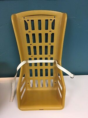 Vintage 1963 Baby Seat Carrier Infanseat Plastic Yellow Plaid  EXCELLENT