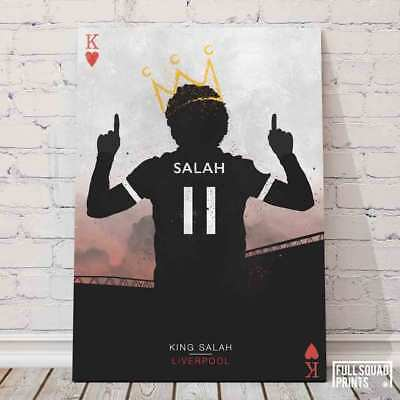 Salah The King of Hearts - Liverpool FC Poster - Football Posters UK