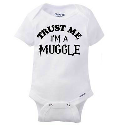 Wizard Chosen One Joke Gerber OnesieMagic Glasses Scar Wand Cute Baby Romper