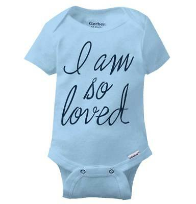 d473b5f7 So Loved Cute Shirt Funny Newborn Baby Clothes Cool Gift Idea Gerber Onesies