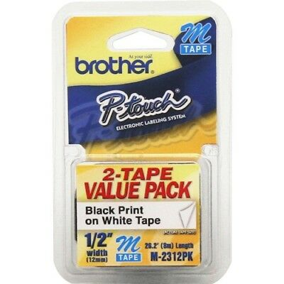 Brother M tape P-touch Electronic Labeling System 2 pack M2312PK
