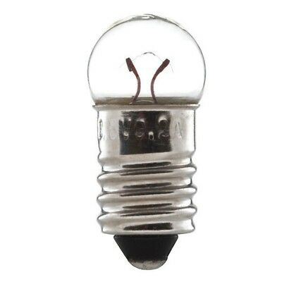 Pack 10 x General Instrument CM86 5mm Wedge Bulbs 6.3v 200mA 1.25w T1.75 clear
