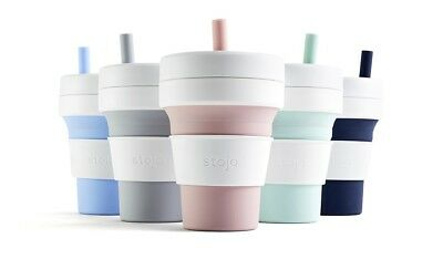 STOJO BIGGIE - The Collapsible, Reusable & Leak-Proof Cup - Free P&P Worldwide!