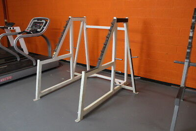 Used Squat Rack >> Squat Rack Used Preowned Plate Storage White Cage Power Half Weight Heavy Lift