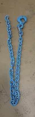"""New/old stock 1/2"""" x 6' heavy chain with grade 80 locking  hook"""