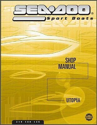 01-02 Sea-Doo Utopia 185 205 Jet Boat Service Shop & Parts Manual CD  -  Seadoo