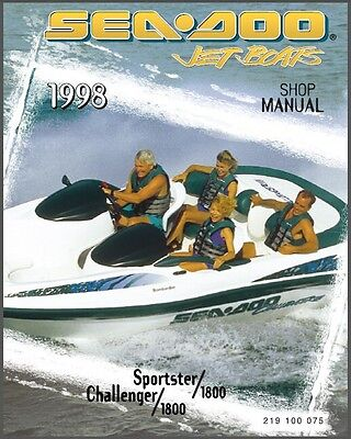 1998 Sea-Doo Sportster Challenger 1800 Jet Boat Service Repair Shop Manual CD