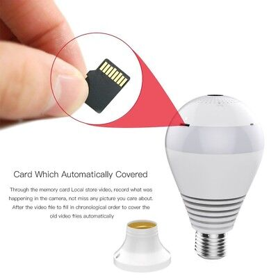 Wifi Wireless 1080p HD Camera Bulb Vr Panoramic With 360 Degree Fisheye Out D6V6