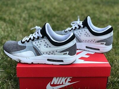 best loved 842b9 62aa4 Nike Air Max Zero Essential - Black White Wolf Grey - Size 9.5 -