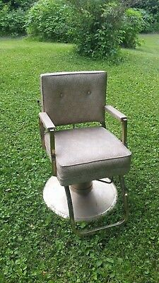 Vintage E.W. Harting Barber Chair / Salon Chair / Floral / Mid-Century