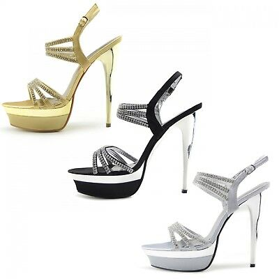 Womens Platform High Heel Party Wedding Shoes