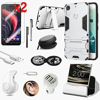 Case Cover+Charger+Wireless Headset Earphone Accessory For HTC Desire 10 Pro