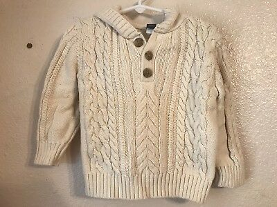 4180fa95d BABY GAP TODDLER Boys Sweater Size 2T Cream Cable Knitted -  8.99 ...