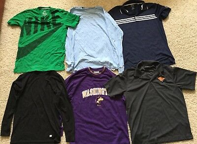 Teen Mens Sz  M Mixed Clothing Lot NIKE Adidas short shirt Jacket 11 Items