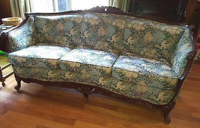 Antique Victorian Sofa and Chair