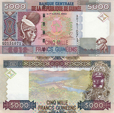 Guinea 5000 Francs (2012) - Tribal Carving/Mask/p41b UNC