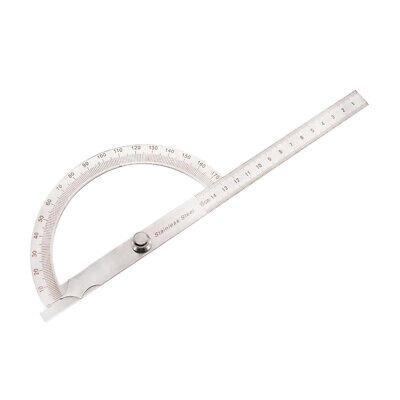 6'' Arm Protractor Ruler Rotary 180 Degrees for School Home Meachanical Work