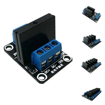 Black AC 240V 2A Output Solid State Relay Module Low Level Trigger 1-8 Way