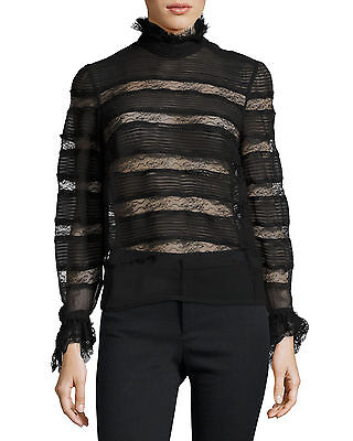 5d2fea617a7 NWT ISABEL MARANT  1190 Sondra Layered Lace Ruffled Victorian Silk Blouse  Top 44
