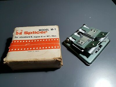 S&K Film Splicer Model M-1 Standard 8 Super 8 16 mm Made in Japan