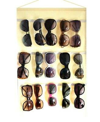 Eyeglass Sunglasses Storage Display Wall Stand Organizer holder for Glasses Beig