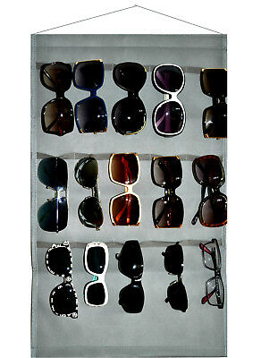 Eyeglass Sunglasses Storage Display Wall Stand Organizer holder for Glasses Gray