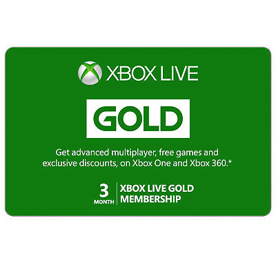 Xbox Live GOLD 3 Months Membership Subscription Code *Global - Microsoft Product