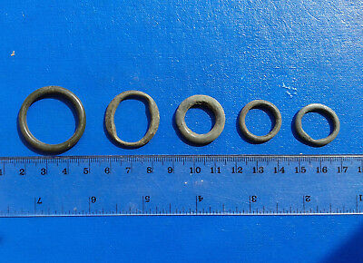lot of 5 Celtic bronze ring-money, 5th-1st cent BC. №48