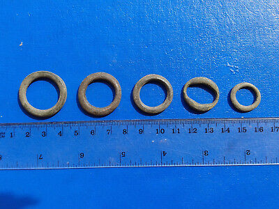 lot of 5 Celtic bronze ring-money, 5th-1st cent BC. №49