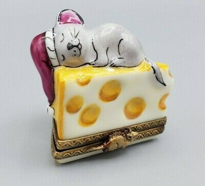 Rochard Limoges Box - Mouse on Cheese